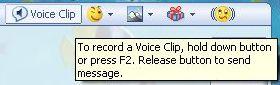 Voice Clip button