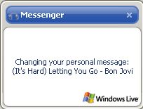 Windows Live Messenger status changing notification