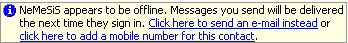 Windows Live Messenger Offline Messages