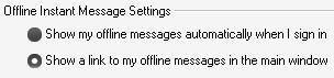 Windows Live Messenger Offline Messages Settings