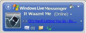 Windows Live Messenger Personal Music Message
